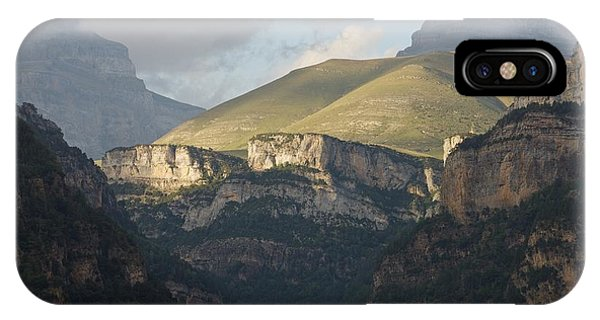 IPhone Case featuring the photograph A Dash Of Light In The Canyon Anisclo by Stephen Taylor
