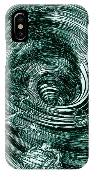 Shipwreck iPhone Case - A Descent Into The Maelstrom By Edgar Allan Poe Illustration By Arthur Rackham by Arthur Rackham