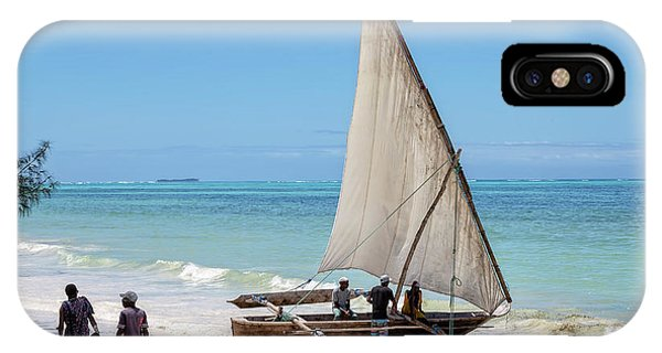 A Dhow In Zanzibar IPhone Case