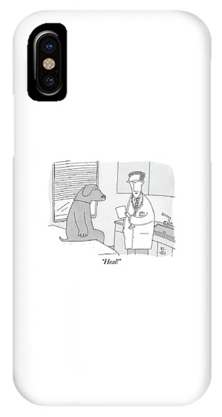 A Doctor Speaks To A Man In A Dog Costume Who IPhone Case