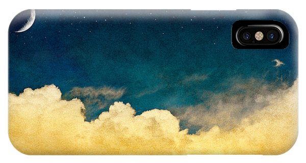 Mottled iPhone Case - A Fantasy Cloudscape With Stars And A by David M. Schrader
