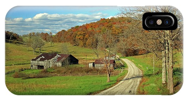 IPhone Case featuring the photograph A Farm On An Autumn Day by Angela Murdock