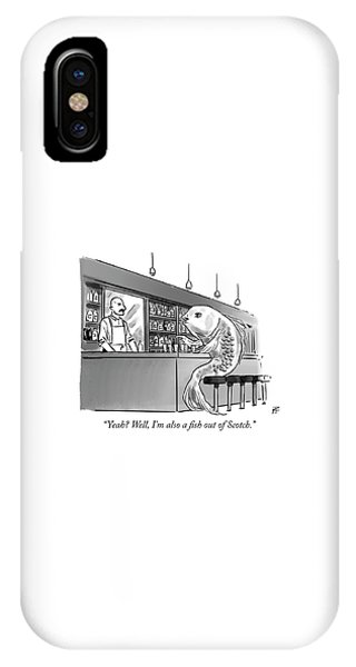 A Fish Out Of Scotch IPhone Case