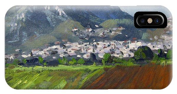 School iPhone Case - A Greek Village by Ylli Haruni