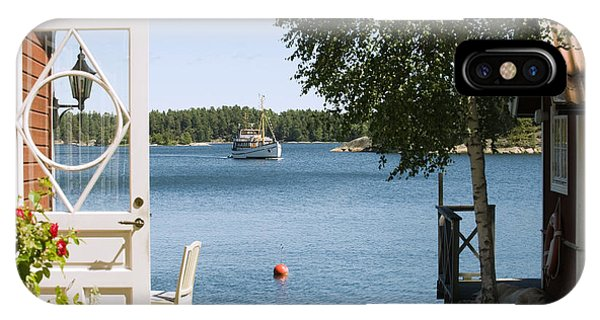 Horizontal iPhone Case - A House In Stockholm Archipelago, Sweden by Bmj