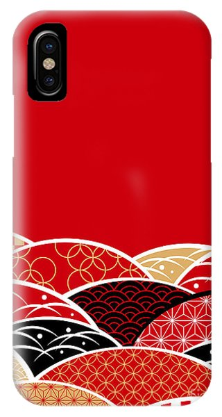 A Japanese Style Background Of Japan Phone Case by Rie Sakae