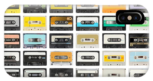 Culture iPhone Case - A Large Collection Of Retro Cassette by Dubassy