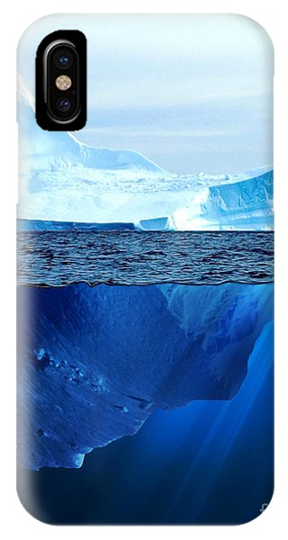 Freeze iPhone Case - A Large Iceberg In The Cold Blue Cold by Sergey Nivens