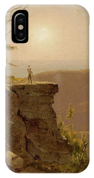 Rocky Mountain iPhone Case - A Ledge On South Mountain, In The Catskills by Sanford Robinson Gifford