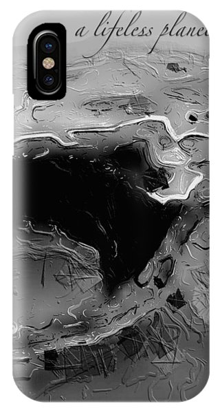 IPhone Case featuring the digital art A Lifeless Planet Black by ISAW Company