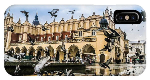 Spirituality iPhone Case - A Lot Of Doves In Krakow Old City by S-f