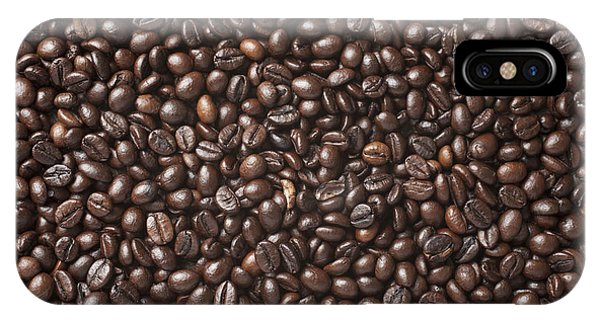 Cafe iPhone Case - A Lot Of Roasted Coffee Beans Which by Wait For