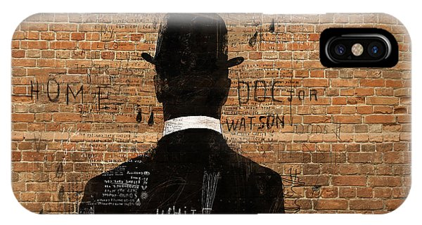 Shadow iPhone Case - A Man In A Hat Who Turned His Back On Us by Dmitriip