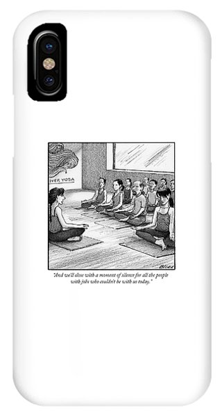 A Moment Of Silence For All The People With Jobs IPhone Case