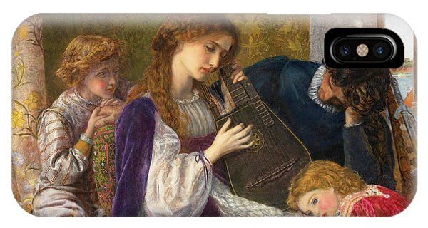Strum iPhone Case - A Music Party, 1864 by Arthur Hughes