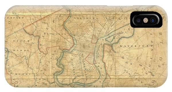 A Plan Of The City Of Philadelphia And Environs, 1808-1811 IPhone Case