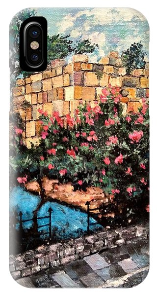 IPhone Case featuring the painting A Roman Wall by Ray Khalife