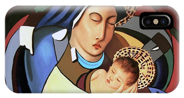 Mary Mother Of God iPhone Case - A Savior Is Born by Anthony Falbo