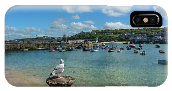 A Seagull Dreaming At The Harbour IPhone Case