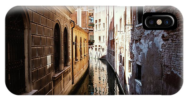 A Shadow In The Venetian Noon Narrow Canal IPhone Case