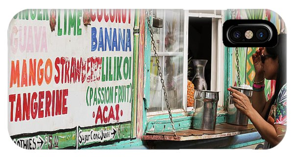 Smoothie iPhone Case - A Smoothie Truck At A Roadside Fruit Stand, Maui, Hawaii by Derrick Neill