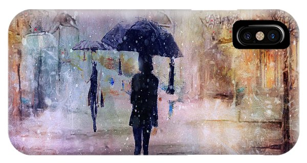 Purple Rain iPhone Case - A Snowy Christmas by Tim Palmer
