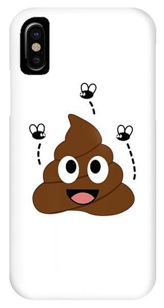 Toilet Humor iPhone Case - A Stinky Poop Attracting House Flies by Shawlin