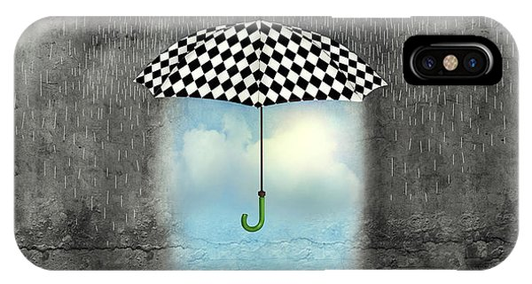 Surrealistic iPhone Case - A Surreal Image Of An Umbrella by Valentina Photos