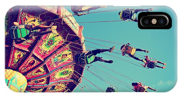 Fair iPhone Case - A Swinging Fair Ride At Dusk Toned With by Annette Shaff