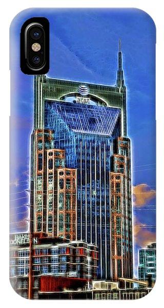 A T And T Building A K A The  Batman Building # 3 - Nashville  IPhone Case