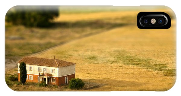 Stone Wall iPhone Case - A Tilt Shifted Country House On A by Ikerlaes