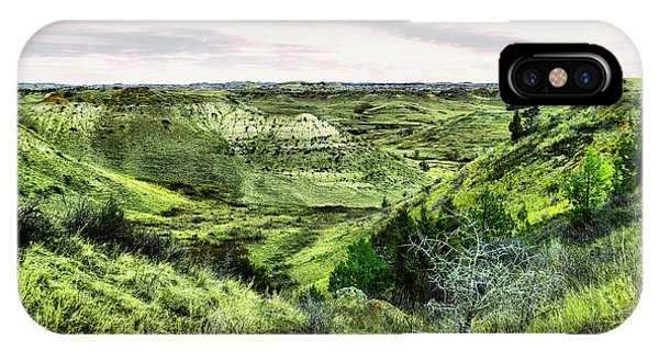 North Dakota Badlands iPhone Case - A View Into The Badlands by Jeff Swan