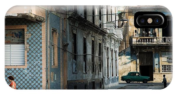 Historic House iPhone Case - A View Of Crumbling Buildings In Havana by Roxana Gonzalez