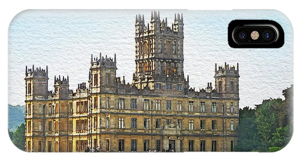 IPhone Case featuring the digital art A View Of Highclere Castle 1 by Joe Winkler