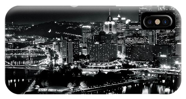 View Point iPhone Case - A View Of Pittsburgh Pa From Above by Frozen in Time Fine Art Photography