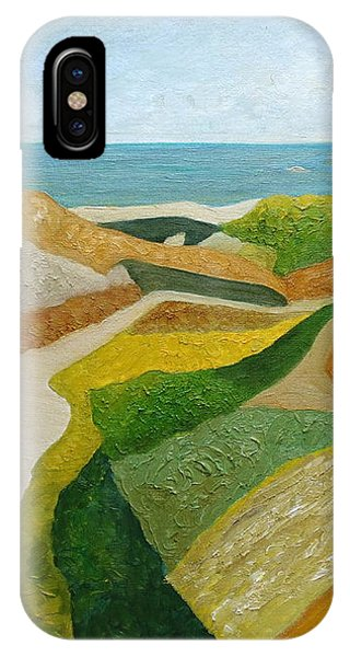 IPhone Case featuring the painting A Walk Down To The Sea by Angeles M Pomata