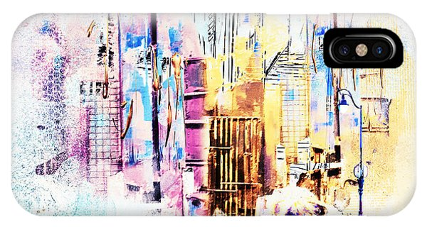 Purple Rain iPhone Case - A Walk To Work by Tim Palmer