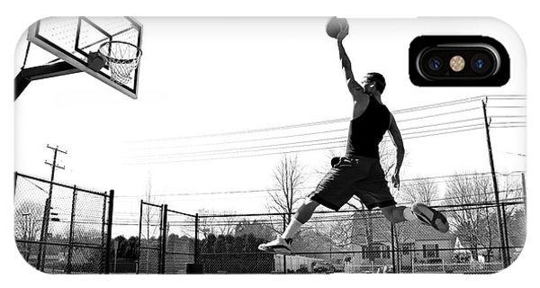Flight iPhone Case - A Young Basketball Player Flying by Arena Creative