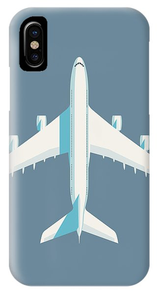 Airline iPhone Case - A380 Super Jumbo Jet Airliner - Slate by Ivan Krpan