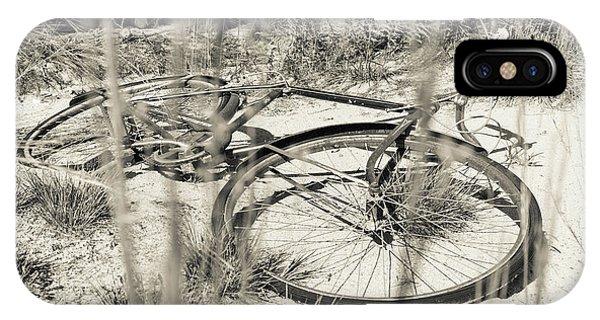 New England Barn iPhone Case - Abandoned Bike by Edward Fielding