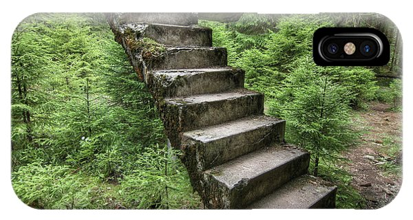 iPhone Case - Abandoned Rest Of The Concrete Staircase In The Woods by Michal Boubin