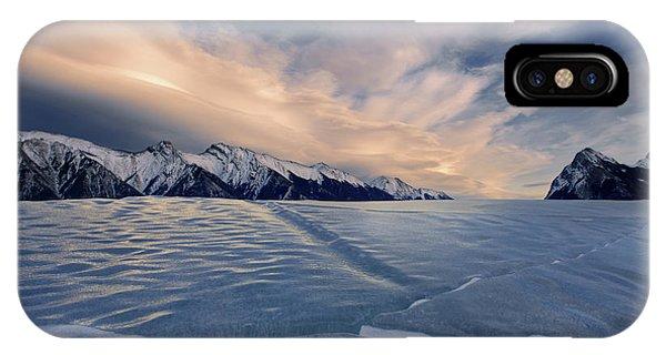 Abraham Lake Ice Wall IPhone Case