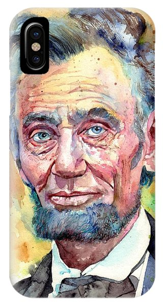 Equal Rights iPhone Case - Abraham Lincoln Portrait by Suzann Sines