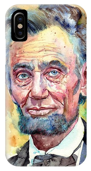 Equal iPhone Case - Abraham Lincoln Portrait by Suzann Sines