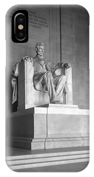 Lincoln Memorial iPhone Case - Abraham Lincoln Statue Inside The Lincoln Memorial - Circa 1920s by War Is Hell Store