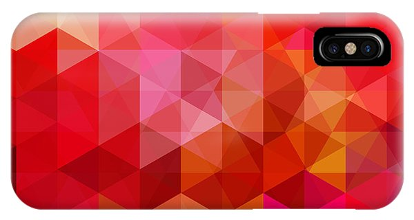 Rectangles iPhone X Case - Abstract Background Consisting Of Red by Tashechka