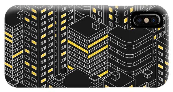 Work iPhone Case - Abstract Black Seamless Pattern by Svetlana Avv