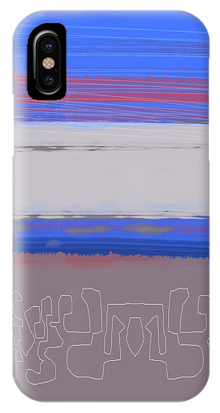 Century iPhone Case - Abstract  Blue View 1 by Naxart Studio