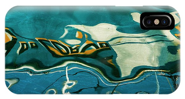 IPhone Case featuring the photograph Abstract Boat Reflection V Color by David Gordon