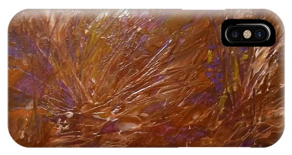 Abstract Brown Feathers IPhone Case